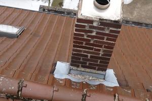 Inspektion eines Daches